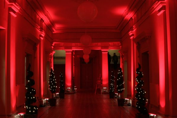 The Entrance Hall, Shoreditch Town Hall, Christmas 2005. (copyright Launch Pad Events)